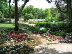 photo of beautiful texas garden with cute flowers in pink and white.JPG