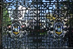 Emblems on gate into Halifax Public Gardens.jpg