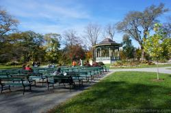 Benches in front of gazebo at Halifax Public Gardens.jpg