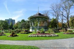 Gazebo with numerous mini-gardens surrounding at Halifax Public Gardens.jpg