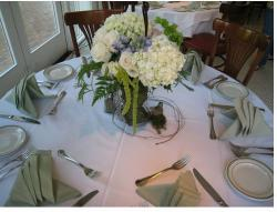 Big flowers wedding arrangement with light green and brown picture.JPG