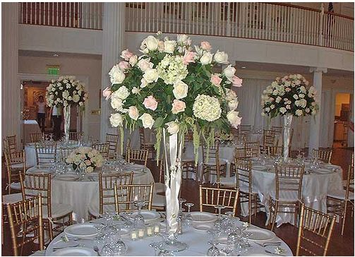 Roses wedding arrangements very tall picg elegant roses wedding arrangements very tall picg junglespirit Image collections