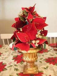 Picture of silk christmas flowers.JPG