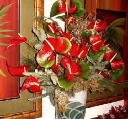 Tropical Hawaii Flowers for Christmas.JPG
