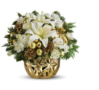 White and gold Christmas centerpiece.JPG