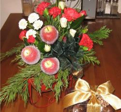 Christmas flower arrangement.JPG