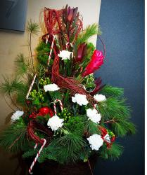 Christmas flower centerpiece Pictures.JPG
