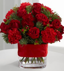 Spirit of the Season Bouquet in bright red.PNG