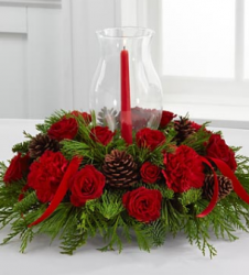 Winter Wonders Holiday Centerpiece with candle and glass.PNG