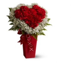 Red heart valentines flower with red vase.PNG