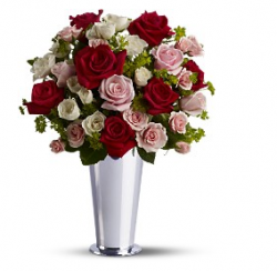 Images of flowers for valentines with silver vase.PNG