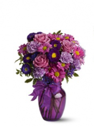 Richdark purple valentines day flowers arrangement.PNG