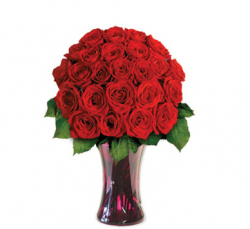 Round valentines day arrangement with full of red roses.PNG