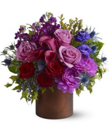 Stylish valentine bouquet with multi color flowers.PNG