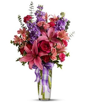 Valentine bouquet with purple and pink flowersg mightylinksfo