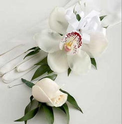 Image of Orchid Corsage & Rose Boutonniere Package.PNG