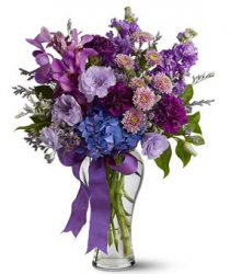 Beautiful valentines day arrangement with purple flowers.PNG