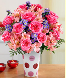 Cheerful valentine bouquet with colorful flowers.PNG