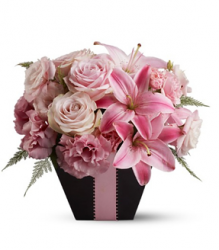 Fresh flowers for valentines day in cute basket.PNG
