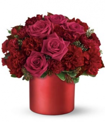 Fashion bouquet valentines day with rich red flowers.PNG