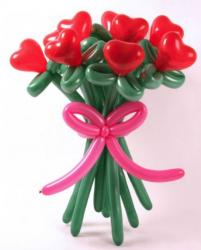 Unique Valentines day gift with balloons in heart shaped roses.JPG