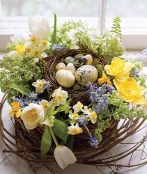Beautiful Easter flower bird nest picture.JPG