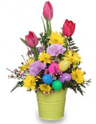 Colorful Easter flwoers arrangement photo.JPG