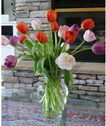 Affortable mother's day flowers gift idea with colorful tulips.PNG