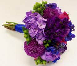 Colorful wedding bouquet images of full of bright colored flowers.JPG