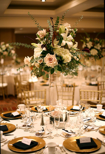 Elegant Tall Centerpiece Picture Png
