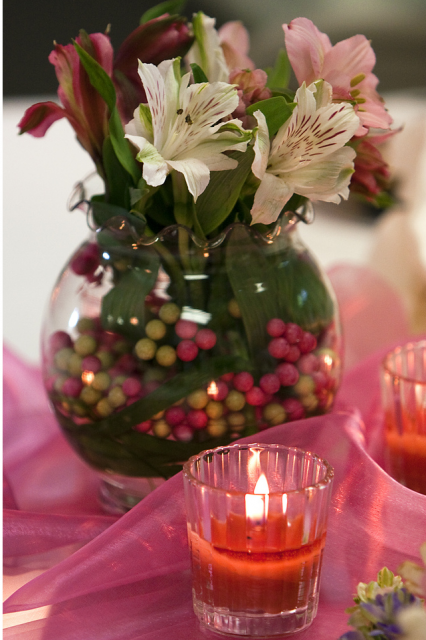 Floral Wedding Flower Arrangement with candles.PNG