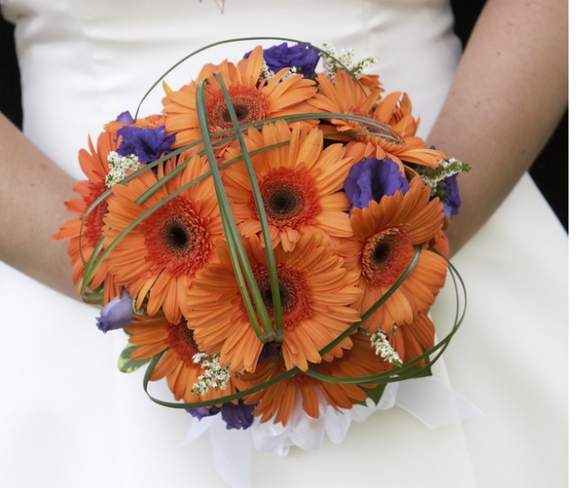 Orange bridal wedding bouquet of flowers.PNG