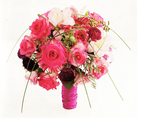 Hot Pink Wedding Bouquet ImagesPNG