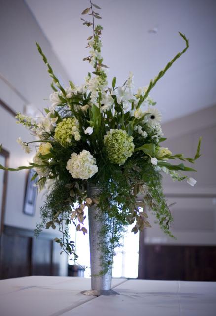White And Green Wedding Flower Arrangement Photo Png Hi