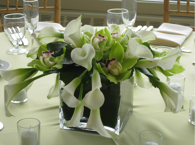 White lilies centerpiece for weddings hi res p hd