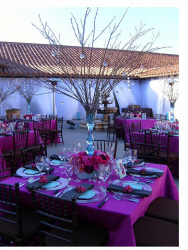 Beautiful wedding centerpiece with branches and pink flowers.PNG