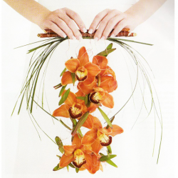 Unique orange bridal wedding bouquet pictures.PNG