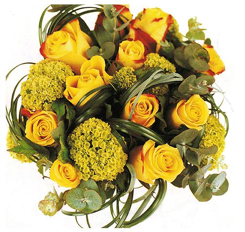 Pic of Yellow wedding bouquet pix flower