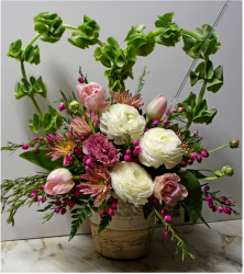 Wedding arrangement with pretty flowers photo.PNG
