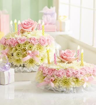 Beautiful Birthday Cake Flowers PicturePNG