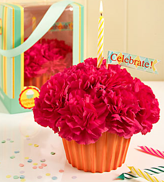 Cupcake In Bloom Birthday Flowers Gift Picture Png