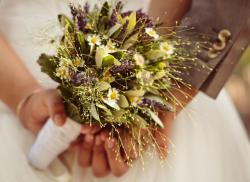 Unique wedding bouquet with natural flowers.JPG