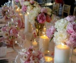 Candles and flowers wedding table decoration ideas pictures.JPG