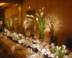 Long lilies wedding centerpieces with tall glass vases.JPG