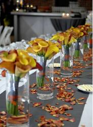 Modern wedding table decoration ideas with orange lilies flowers.JPG