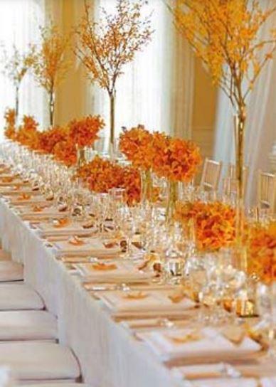 Orange Theme Wedding Table Decoration Ideas Imagesg
