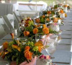 Summer wedding table decoration ideas with orange flowers.JPG