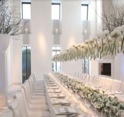 Unique wedding party decoration ideas picture with white theme.JPG