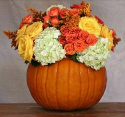 Large pumpkin table centerpiece picture.JPG