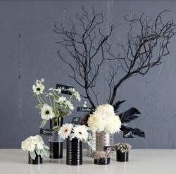 White and black halloween arrangements.JPG